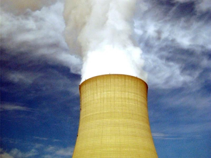 In this March 16, 2011 file photo, steam escapes from Exelon Corp.'s nuclear plant in Byron, Ill. Illinois lawmakers are considering clean-energy legislation backed by Exelon Corp. to keep three unprofitable nuclear plants afloat.