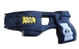 A Taser, a type of electroshock stun gun made by Taser International.