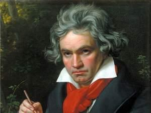 Painting of Beethoven.