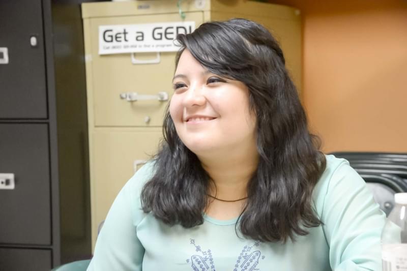 Frida Arellano, a migrant worker and college student