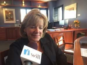 University of Illinois Urbana campus interim Chancellor Barb Wilson in her office Tuesday.