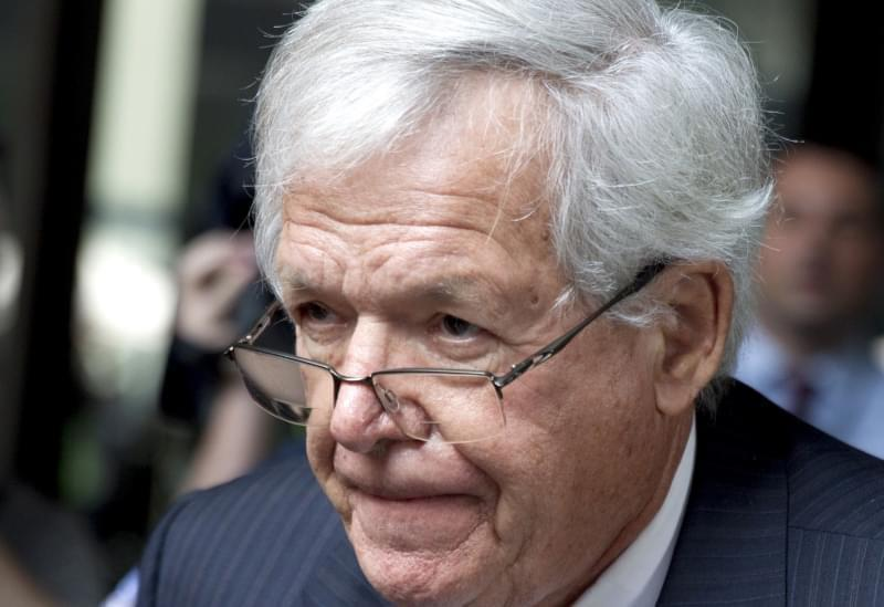 In this June 9, 2015 file photo, former House Speaker Dennis Hastert departs the federal courthouse in Chicago after his arraignment on charges of violating banking rules and lying to the FBI after he allegedly agreed in 2010 to pay $3.5 million to s