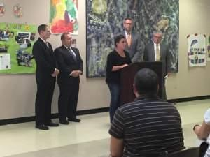 Sarah Thompson of Paxton speaks about the ABLE Act to a small audience at the Developmental Services Center of Champaign on Monday.