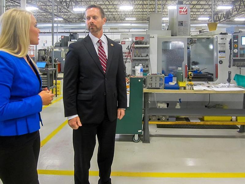 U-S Rep. Rodney Davis tours the HL Precision Manufacturing plant in Champaign.