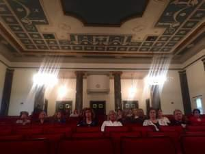 Most of the audience at a legislative hearing on massive cuts to a program that helps students and working parents pay for daycare was mostly comprised of daycare providers and affected mothers; only one legislator was spotted in attendance. All legi