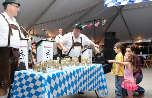 An activity at the first annual CU Oktoberfest in 2013.