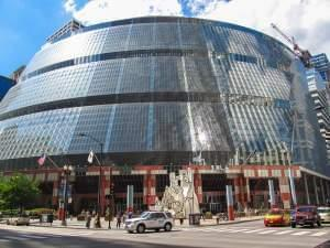 The James. R. Thompson Center in Chicago