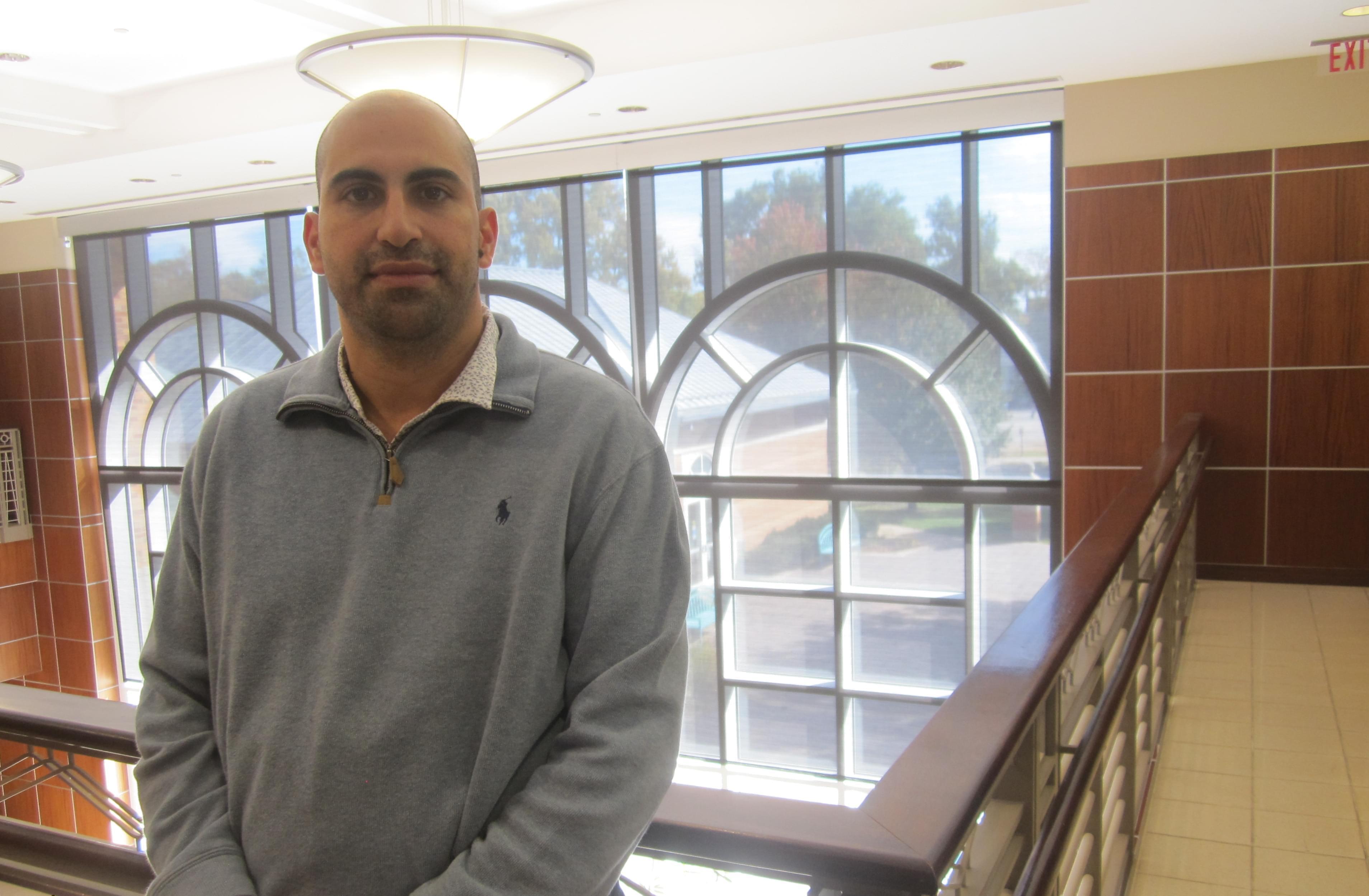 Visiting Prof. Steven Salaita of the American University of Beirut.