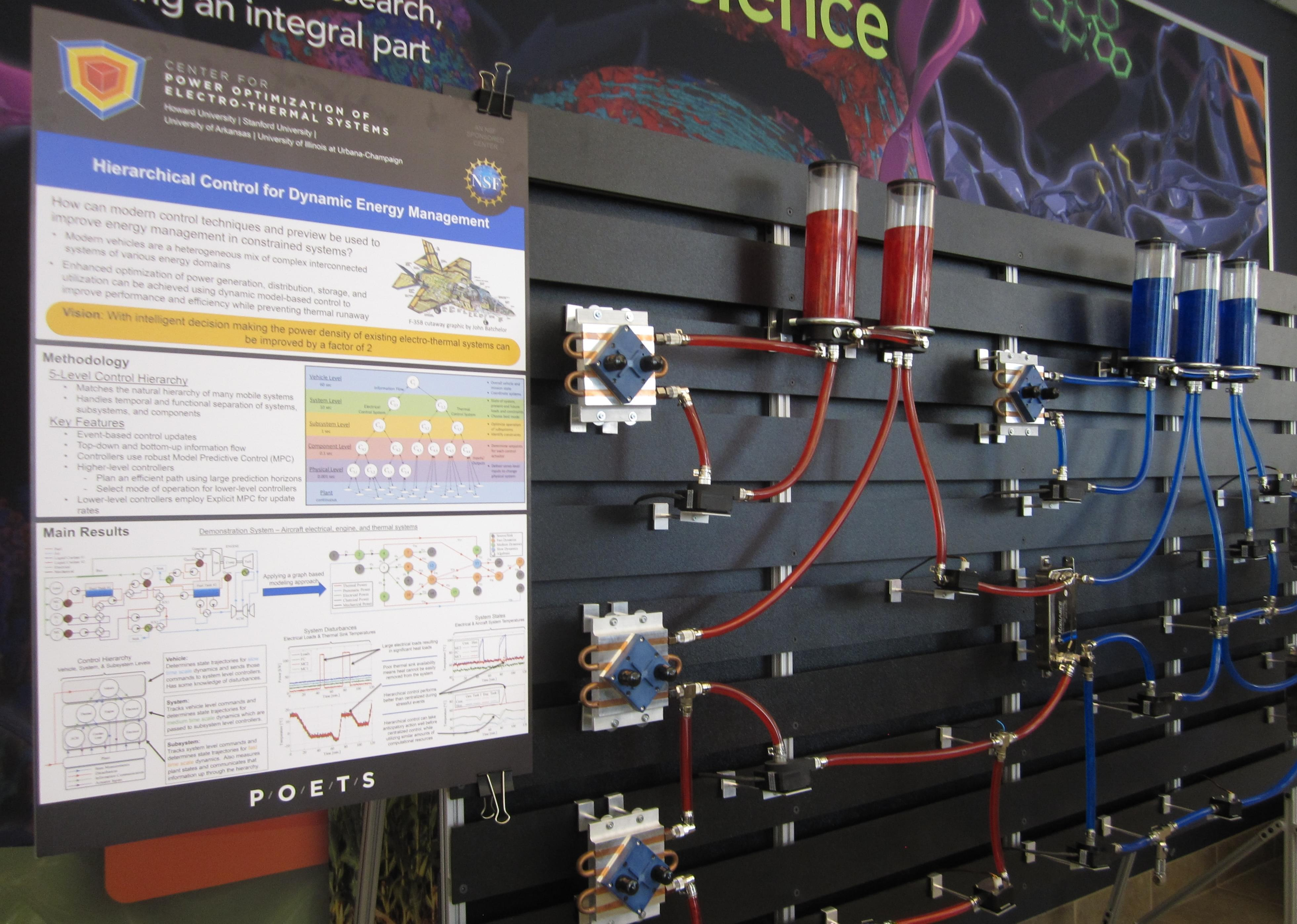 A display at the U of I's National Center for Supercomputing Applications, during the launch of P.O.E.T.S. Thursday.