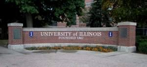 Entrance to the University of Illinois' Urbana campus