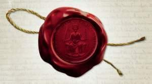 John's seal on the cover of Magna Carta: The Birth Of Liberty