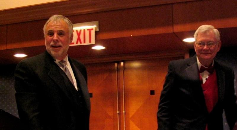 Illinois Supreme Court Justice Thomas Fitzgerald, right, with then-Chief Justice Robert Thomas, at an Illinois State Bar Association event in Chicago.