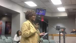 Champaign County NAACP President Patricia Avery, addressing the Champaign City Council.