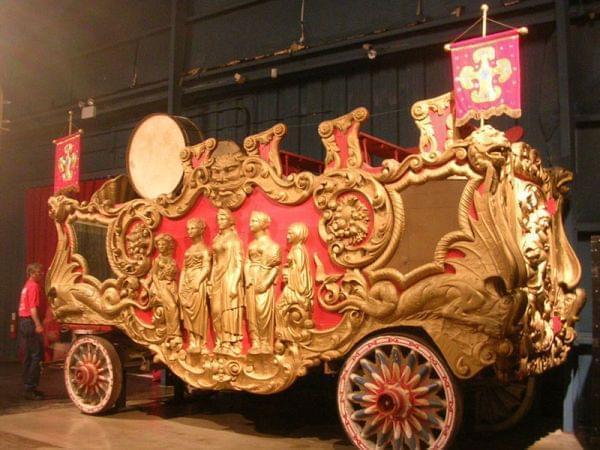 A circus bandwagon at the Ringling Museum in Sarasota, FL