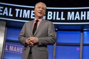 Bill Maher on the set of his HBO show Real Time with Bill Maher