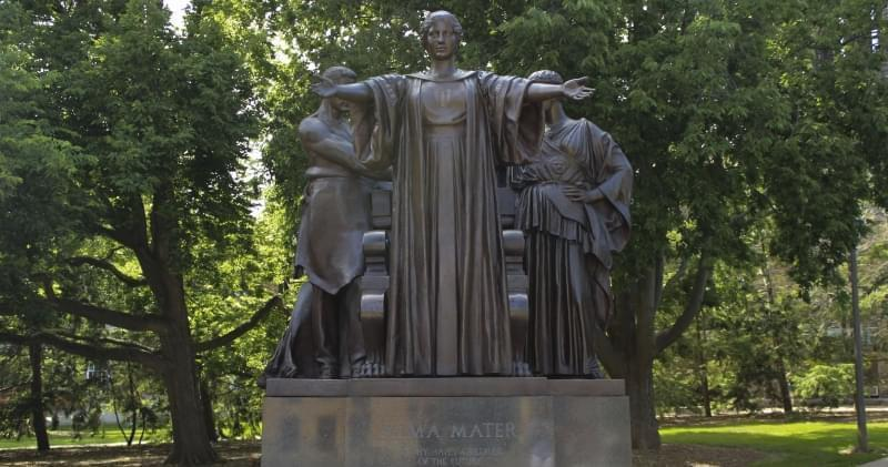 The Alama Mater statue on the Urbana campus of the University of Illinois.