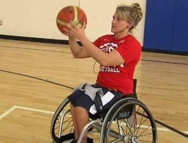 2012 photo of Paralympian and NWBA president Sarah Castle