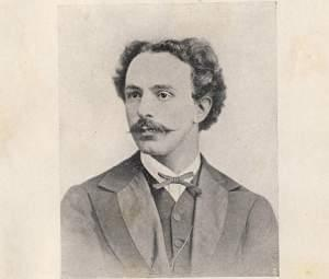 "Reproduction of photo of Franco Faccio during the time of ""Amleto"" original La Scala production in 1871"