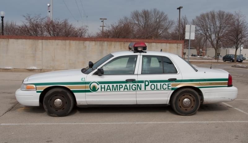 A Champaign Police squad car