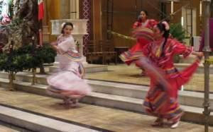 Dancers at the Cathedral of St. Mary of the Immaculate Conception in Peoria for the feast day of Our Lady of Guadalupe