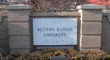 Sign for Western Illinois University