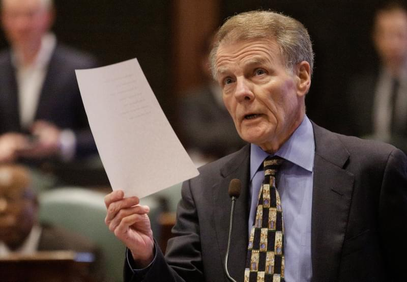 Illinois Speaker of the House Michael Madigan, D-Chicago, speaks to lawmakers while on the House floor during session at the Illinois State Capitol Tuesday, Oct. 20, 2015, in Springfield, Ill