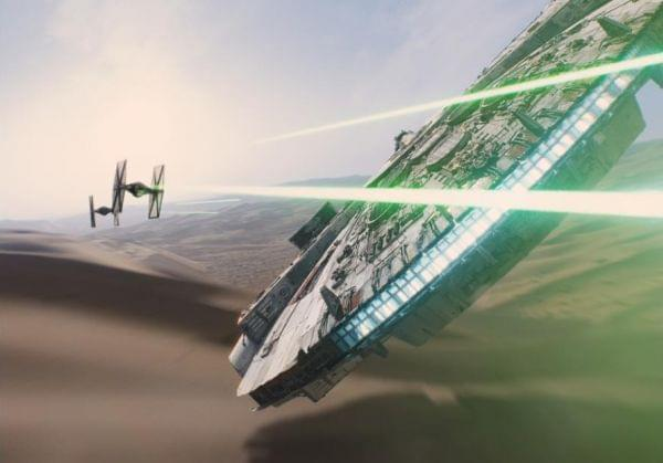 A screen grab from the Star Wars movie.