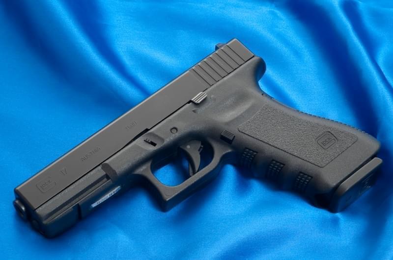 A Glock 17 semi-automatic pistol