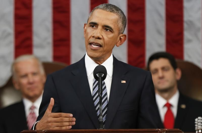 President Barack Obama delivering his State of the Union address on Tuesday, Jan. 12, 2016.