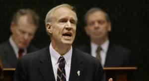 Illinois Governor Bruce Rauner delivering his 2016 State of the State address.