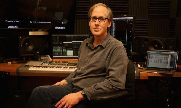 Jeff Beal in his recording studio.