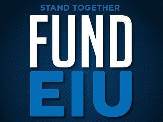 """Fund EIU"" graphic for a rally scheduled for Feb. 5th calling on the state to restore funding for Eastern Illinois University."