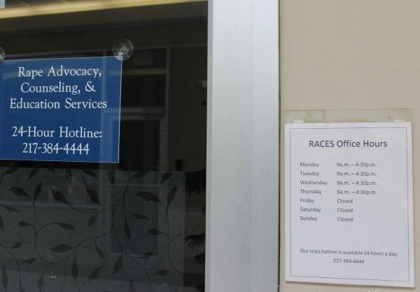 The offices of Rape, Advocacy, Counseling and Education Services in Urbana, which has been reduced operating four days a week due to the lack of a state budget.