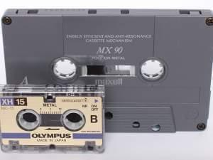 A Compact Cassette and a Microcassette