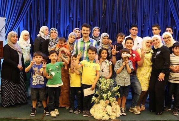 A group of Syrian refugees in Chicago
