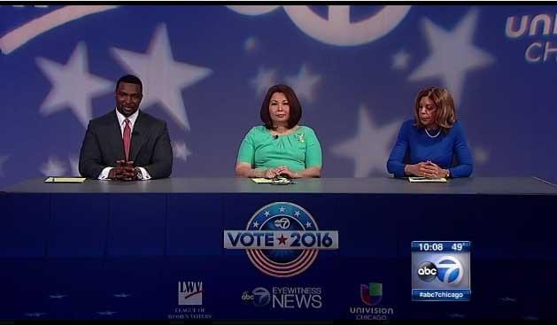 Congresswoman Tammy Duckworth, former Chicago Urban League President Andrea Zopp and State Senator Napoleon Harris debate Friday in Chicago.