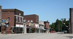 A view of downtown Farmer City.