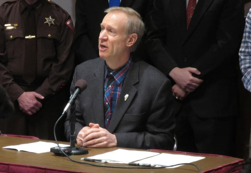 Governor Bruce Rauner at a news conference in 2015