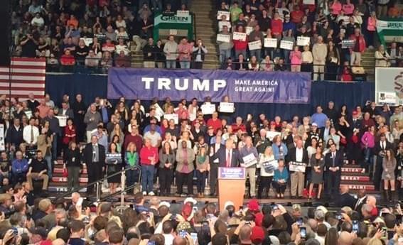 A Donald Trump rally held last November in Springfield, IL.