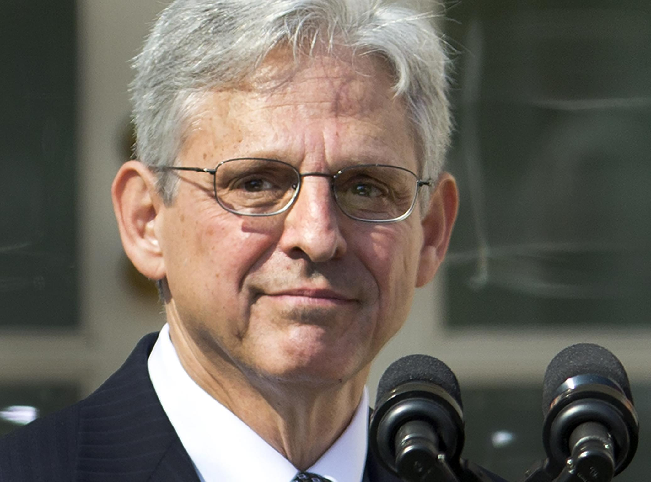 Federal appeals court judge Merrick Garland is introduced as President Barack Obama's nominee for the Supreme Court during an announcement in the Rose Garden of the White House, in Washington, Wednesday, March 16, 2016.