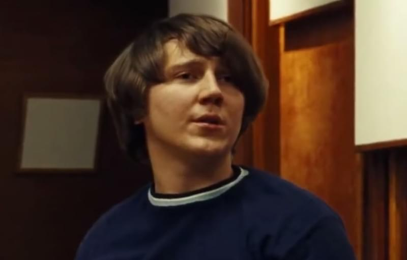 Paul Dano portraying Brian Wilson