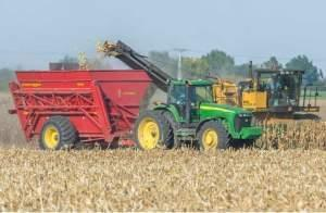 Harvest activity just south of Rantoul, Ill., on Sept. 26, 2014.
