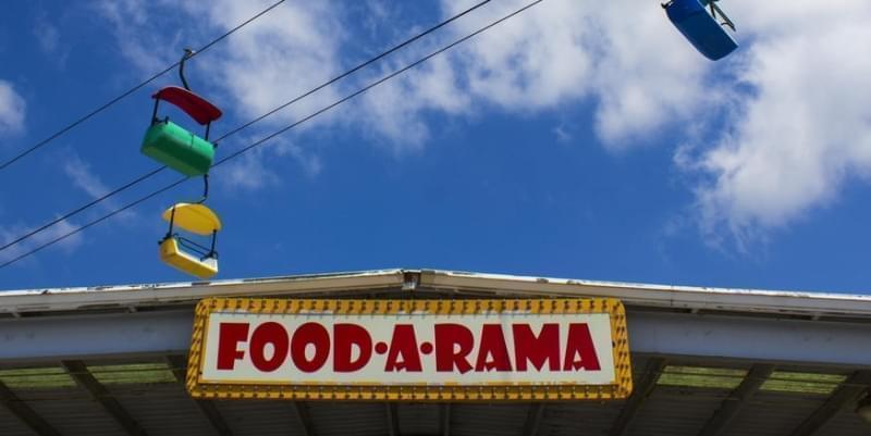"""Food-A-Rama"" concession sign at the Illinois State Fair"