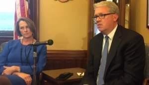 The top Republicans in Illinois' General Assembly: Senator Christine Radogno and Rep. Jim Durkin,