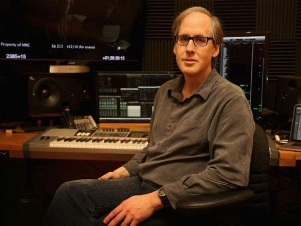 man in recording studio