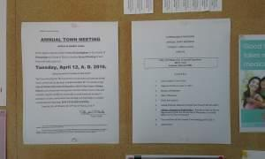 Notice and Agenda for the Cunningham Township annual town meeting in Urbana.