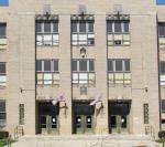Entrance to Champaign Central High School.