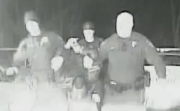 A still from the Champaign Police dashcam video of the March 16, 2014 arrest of Benjamin Mann.