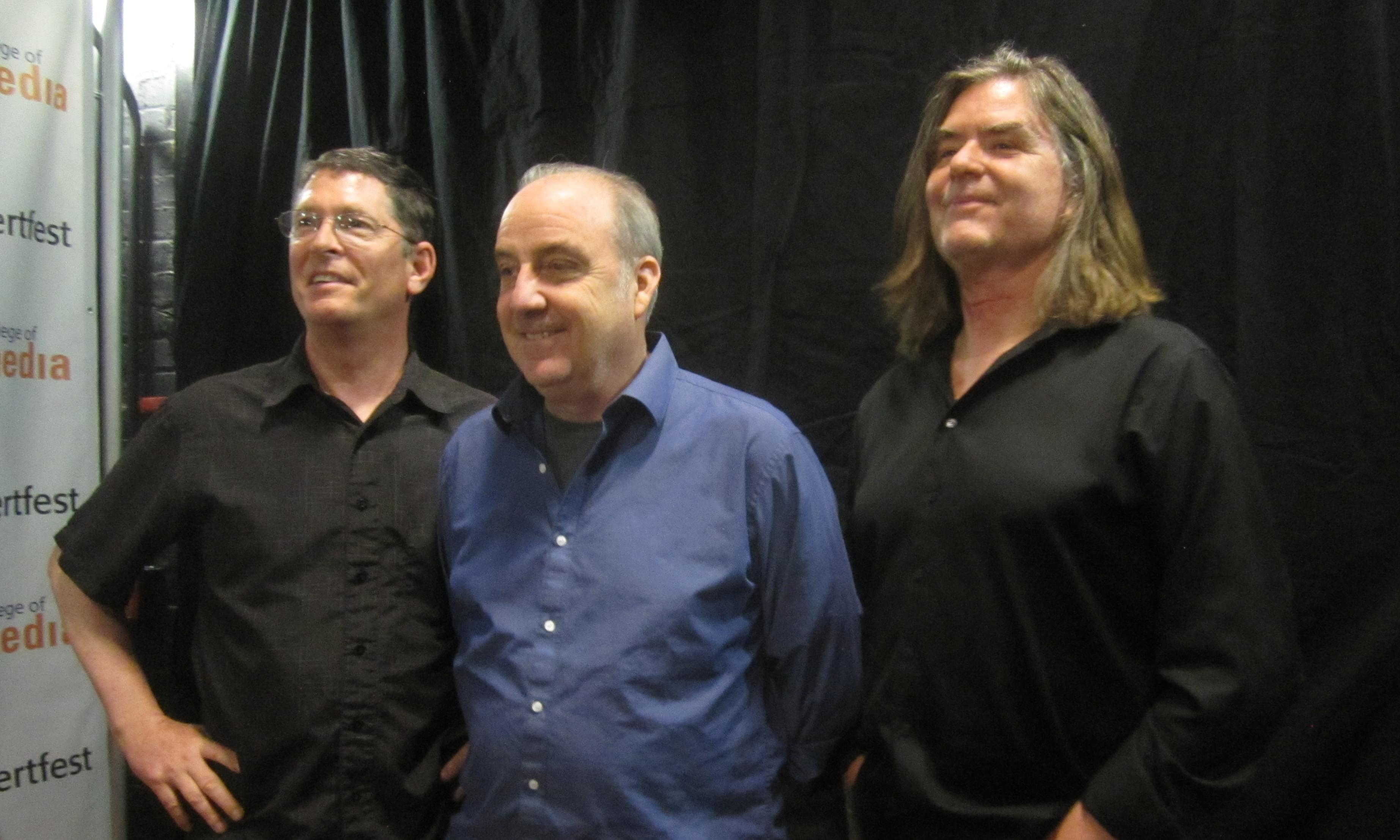 Alloy Orchestra members Terry Donahue, Ken Winokur and Roger C. Miller.