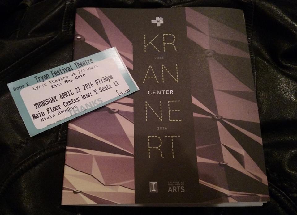 Kiss Me Kate ticket stub
